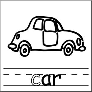 Ar words image clipart transparent Clip Art: Basic Words: -ar Phonics: Car B&W I abcteach.com | abcteach transparent