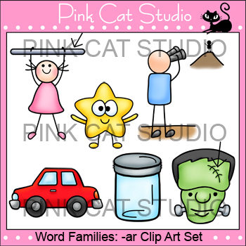 Ar words image clipart clip library download Rhyming Words: -ar Rime Word Family Clip Art Set - Personal or Commercial  Use clip library download