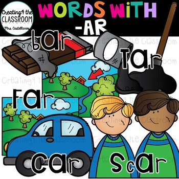 Ar words image clipart banner freeuse Words with -ar {Word Family Clip Art} banner freeuse