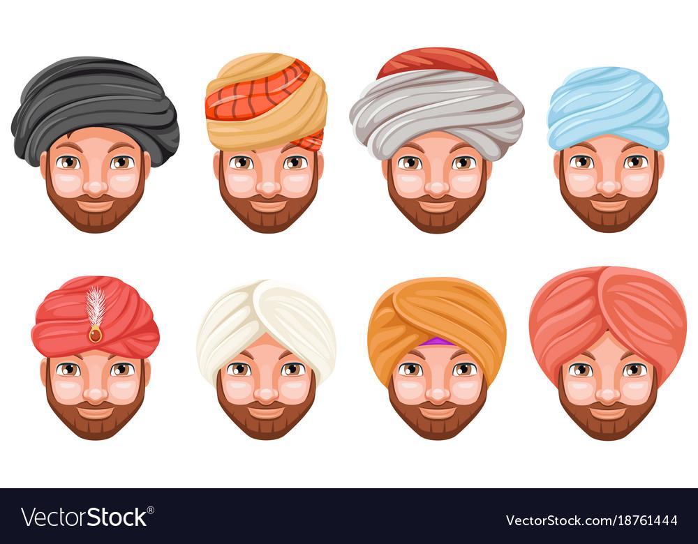 Arab turban clipart jpg library stock Fashion turban headdress arab indian culture sikh jpg library stock
