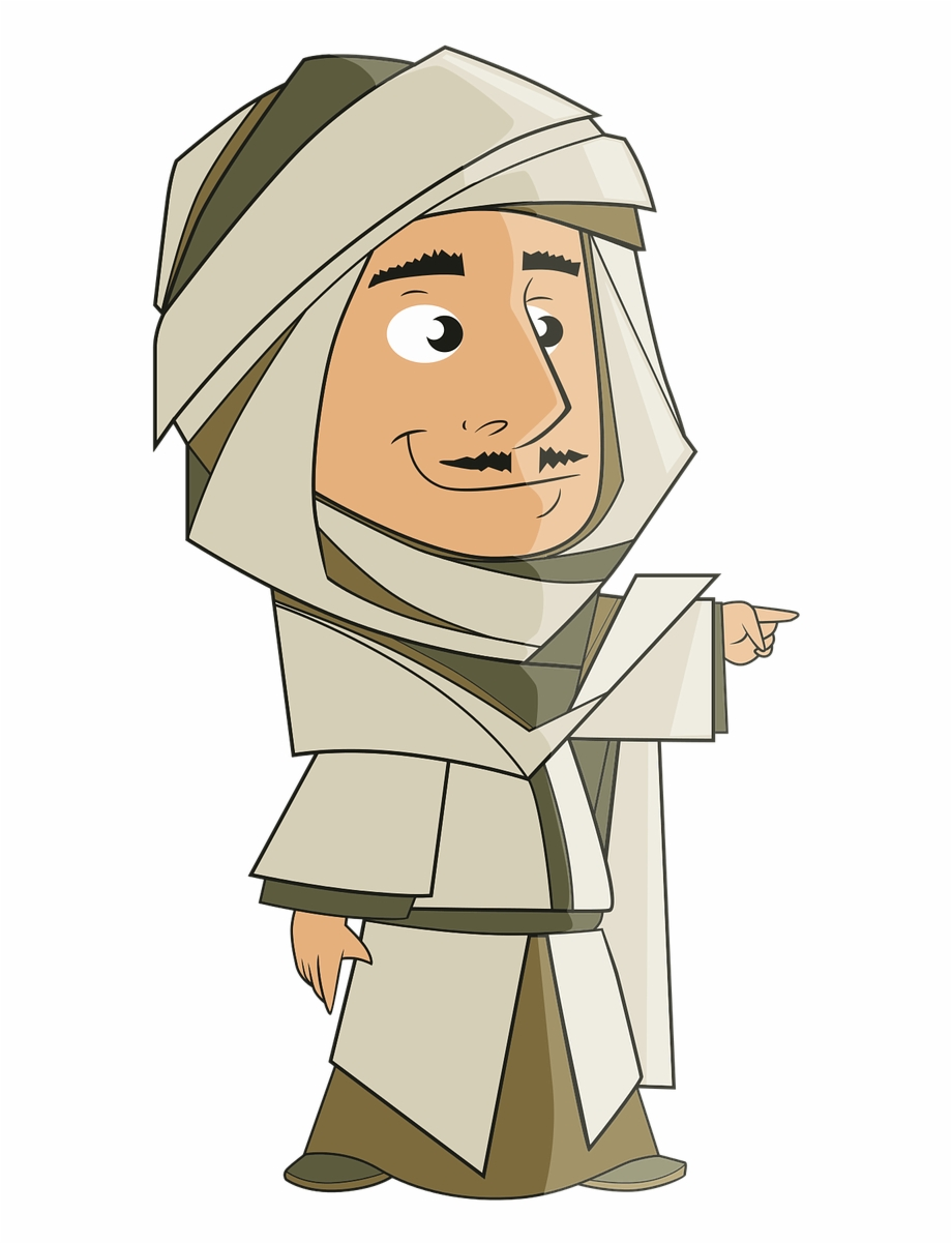 Arab turban clipart vector free stock Arab Clipart Turban Boy - Arab Man Cartoon Png, Transparent Png ... vector free stock