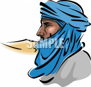 Arab turban clipart clipart download A Colorful Cartoon of a Profile of an Arab Man In Traditional ... clipart download