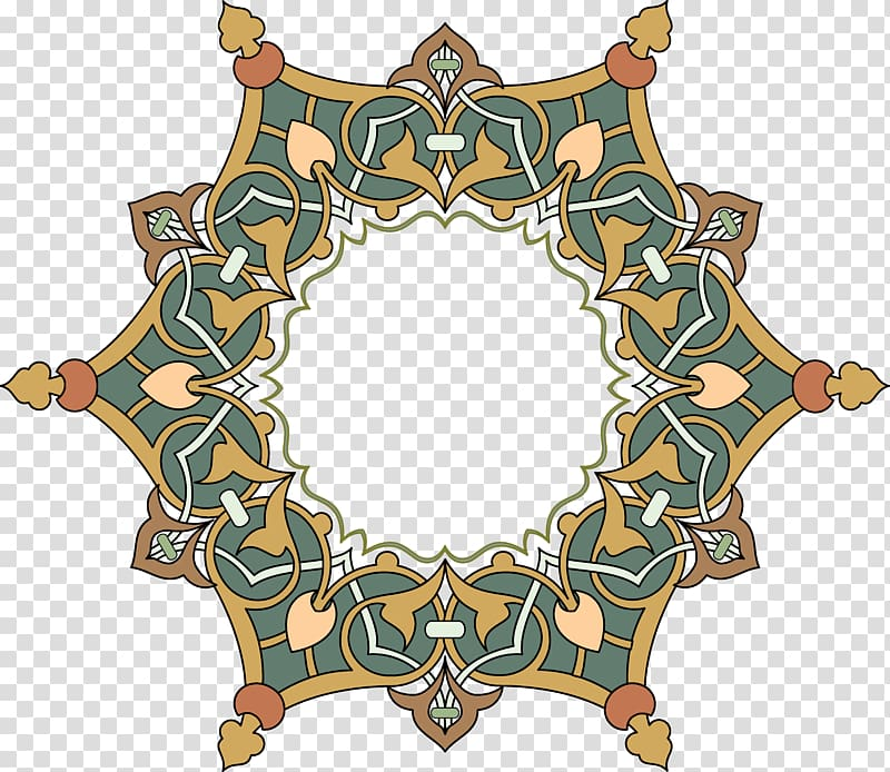 Arabesque shape clipart free graphic black and white library Free download | Green and orange flower border illustration, Toranj ... graphic black and white library