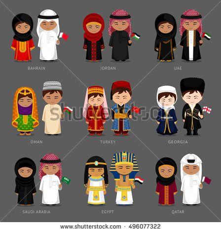 Arabian clothes clipart