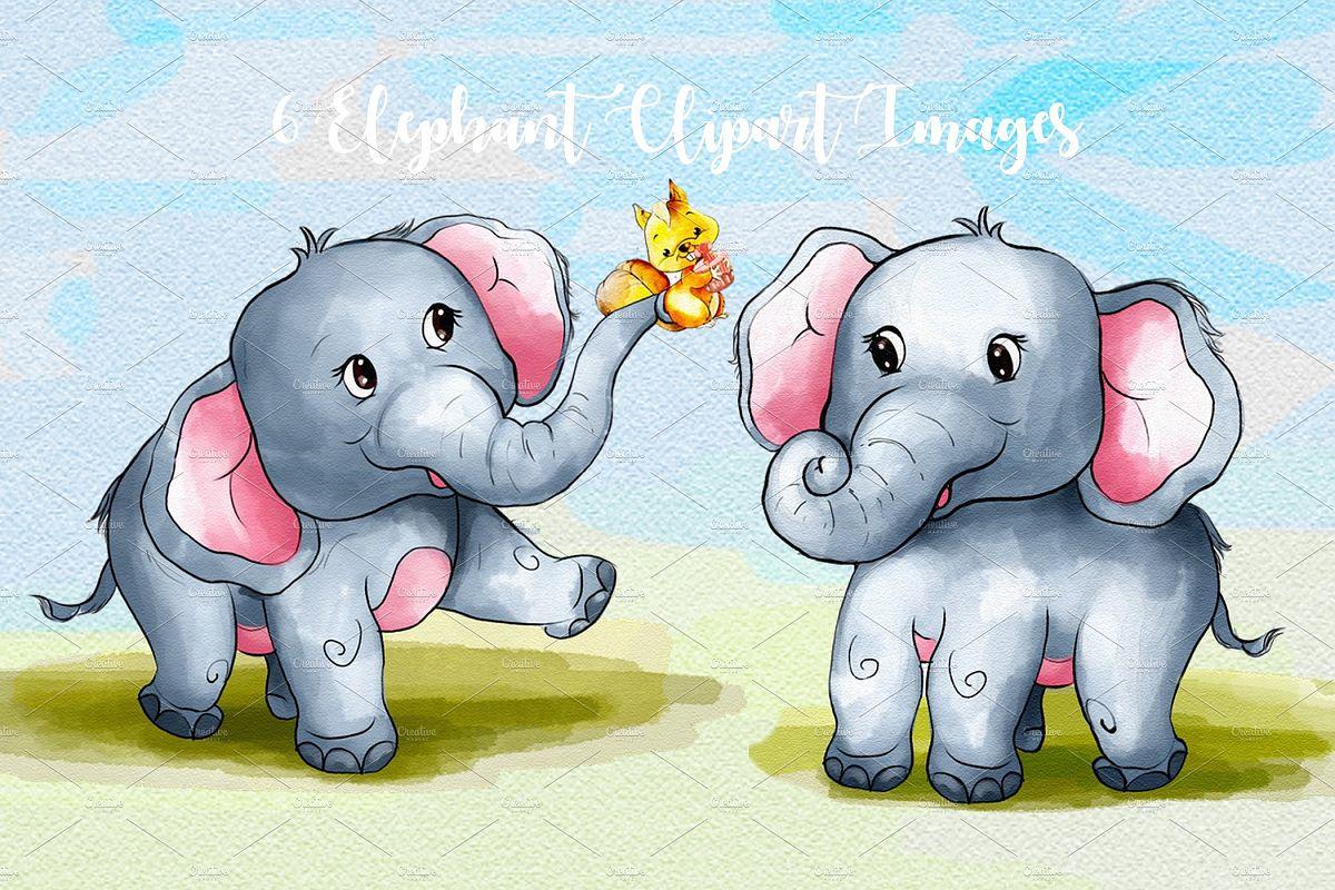 Arabian elephant clipart clip art transparent stock Cute Elephant Clipart Images by Whimseez clip art transparent stock