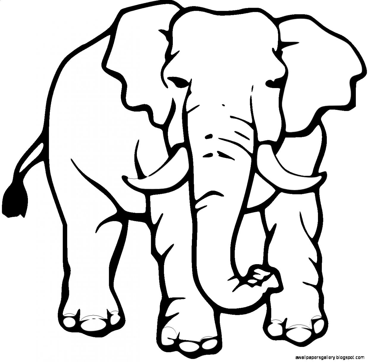 Arabian elephant clipart png transparent stock Elephant Clipart Black And White | Wallpapers Gallery png transparent stock