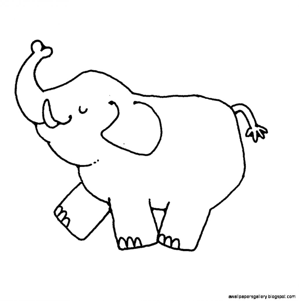 Arabian elephant clipart vector free library Elephant Clipart Black And White | Wallpapers Gallery vector free library