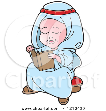 Arabic book clipart transparent library Clipart of a Black and White Happy Arabic Kid Reading a Book ... transparent library
