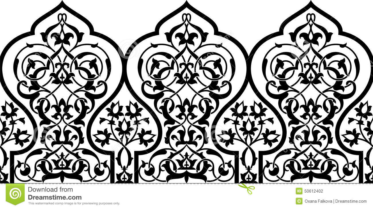 Arabic clipart borders clip art stock Arabic Border Stock Vector - Image: 50612402 clip art stock