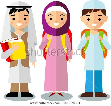 All age group arab. Arabic clipart kids