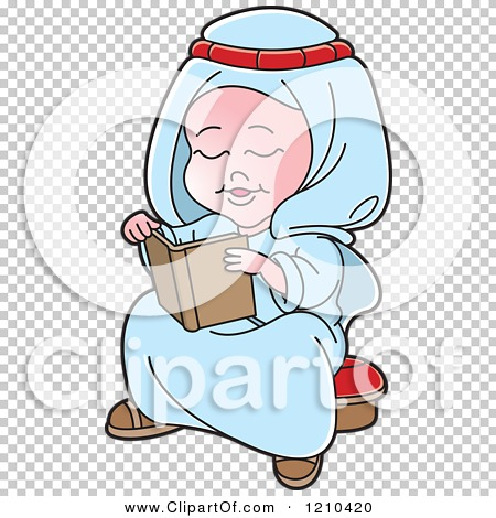 Arabic clipart kids clip free download Clipart of a Happy Arabic Kid Reading a Book - Royalty Free Vector ... clip free download