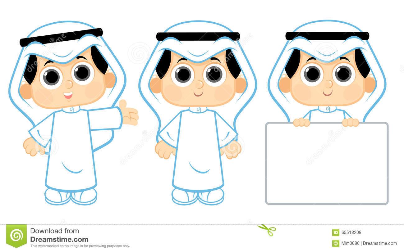 Arabic clipart kids. Clipartfest arab child
