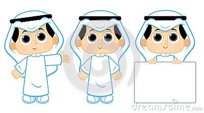 Emirati stock illustrations vectors. Arabic clipart kids