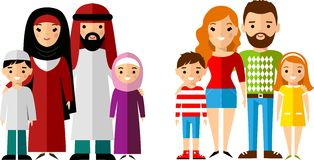 Arabic family photo clipart image black and white download Arab Family Stock Illustrations – 435 Arab Family Stock ... image black and white download