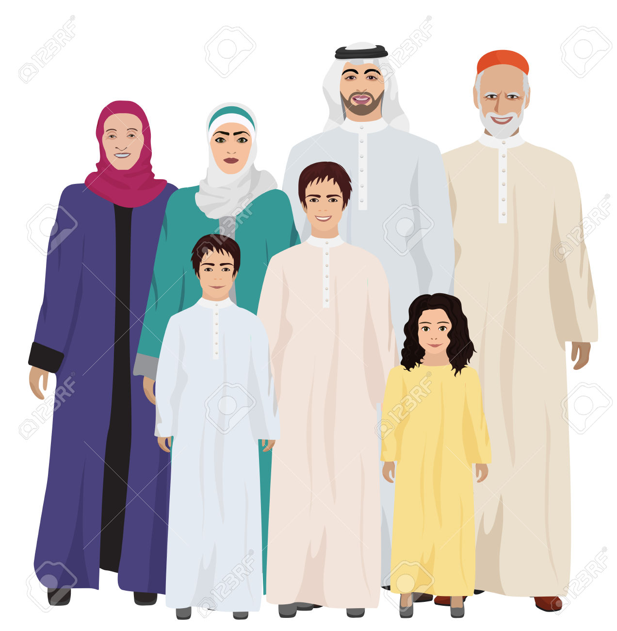 Clipartfest arab big and. Arabic family photo clipart