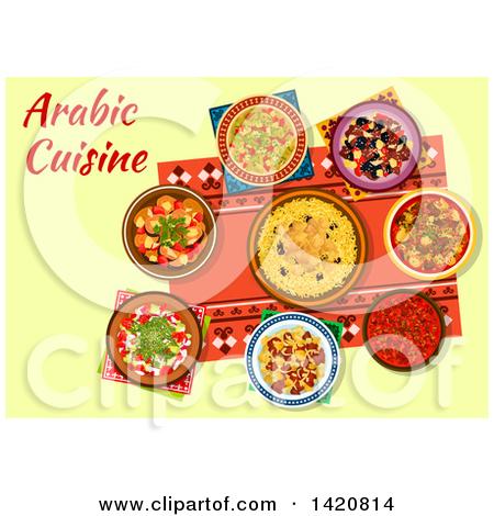 Royalty free rf illustrations. Arabic food clipart