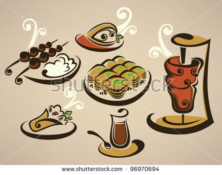 Arabic food clipart. Vector free download for