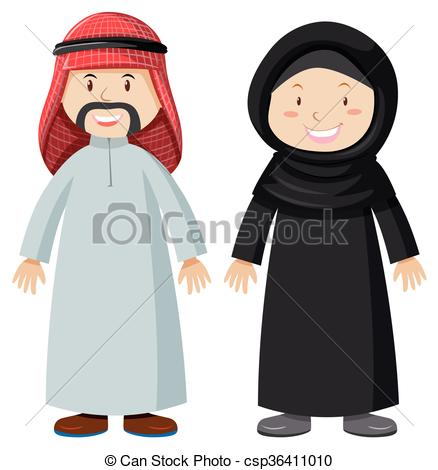 Arabic man clipart. Arab vector royalty free
