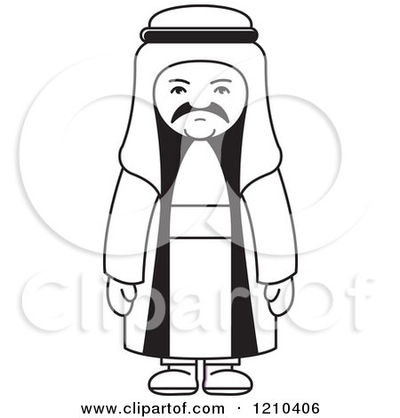 Of an royalty free. Arabic man clipart