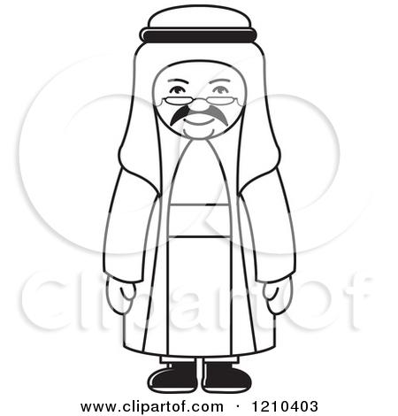 Face for clipartfest preview. Arabic man clipart
