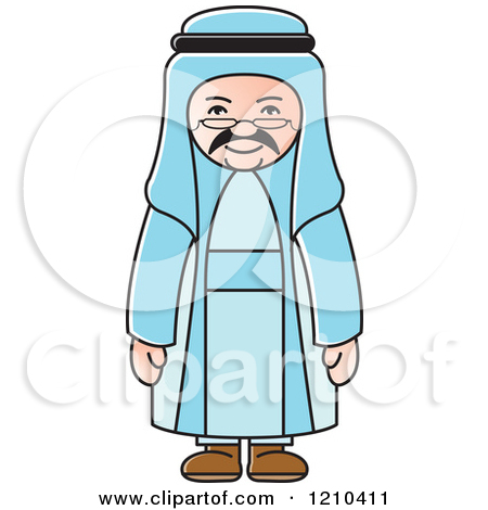 Arabic man clipart png black and white library Arab Man Clipart png black and white library