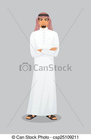 Vector clip art of. Arabic man clipart
