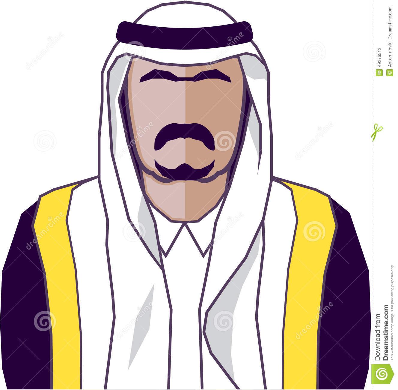 Arabic man clipart. Face for clipartfest arab
