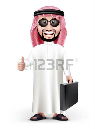 stock illustrations cliparts. Arabic man clipart