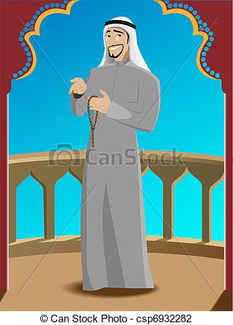 Arabic man clipart clipart library download Vector Illustration of Smiling Successfull Arabic Man - Smiling ... clipart library download