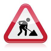 Arbeit clipart. Road construction clip art