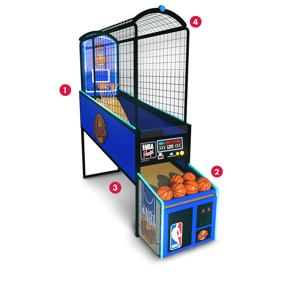 Arcade basketball clipart image royalty free stock NBA Hoops Basketball Arcade Game OEM Parts, Service & Game Manuals image royalty free stock