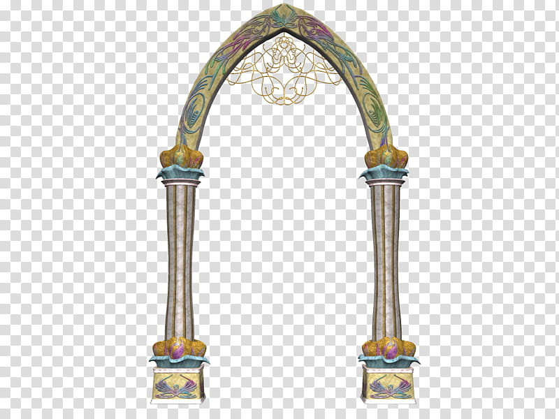 Arch border clipart vector library Celestial Arch, gray and yellow concrete arch transparent background ... vector library