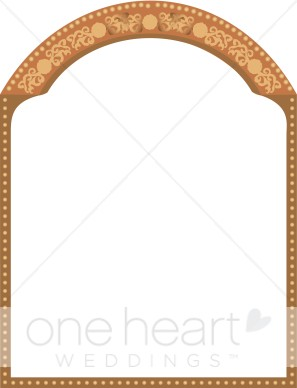 Arch border clipart clipart library stock Indian Border | Fancy Border Accents clipart library stock