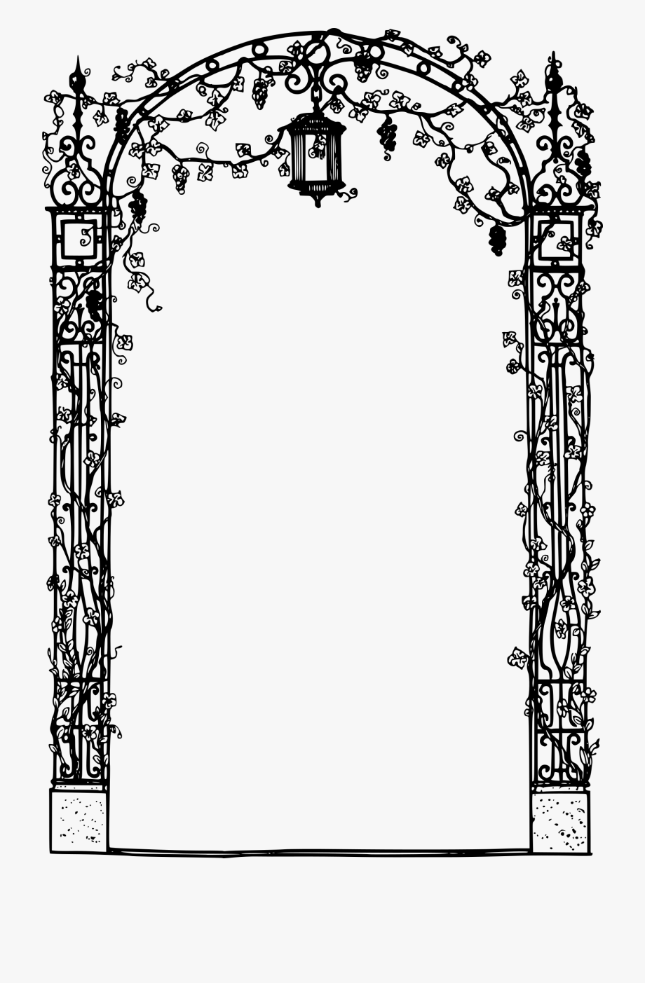 Arch clipart black and white clip free download Decorative Frame Icons Png Free And Downloads - Black And White Arch ... clip free download