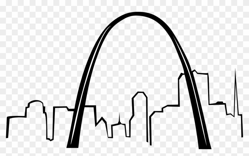 Arch clipart black and white graphic stock Pix For Skyline Black And White Sketch - St Louis Arch Clipart, HD ... graphic stock