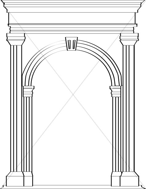 Arch clipart black and white clip art black and white library Stone Arch in Roman Architecture | Church Clipart clip art black and white library