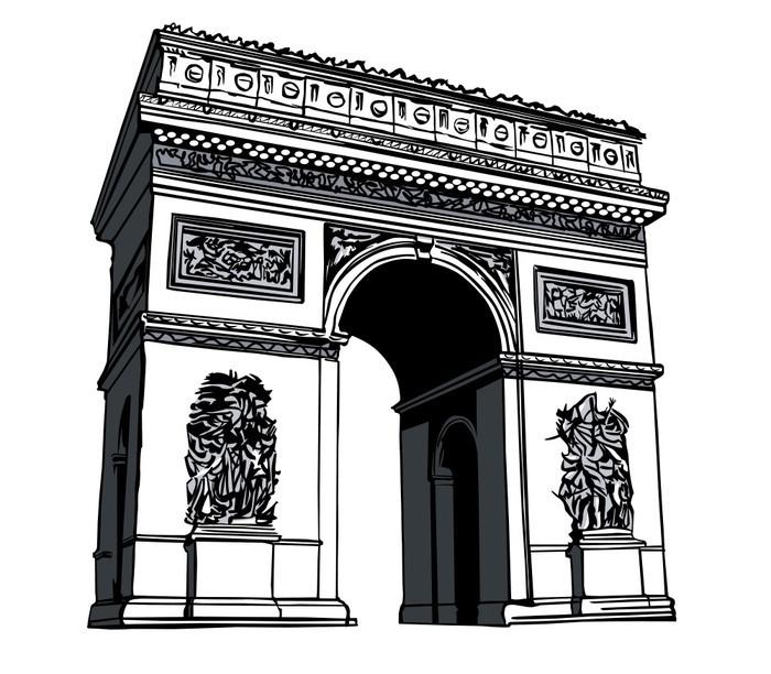 Arch de triomphe clipart clip black and white stock Arc De Triomphe Clipart Vector, Clipart, PSD - peoplepng.com clip black and white stock
