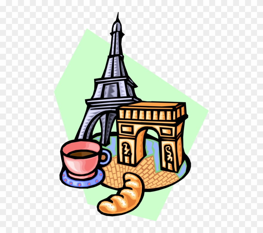 Arch de triomphe clipart picture royalty free stock Vector Illustration Of Eiffel Tower And Arc De Triomphe - Arc De ... picture royalty free stock