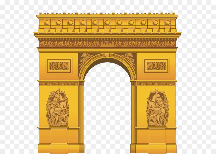 Arch de triomphe clipart picture transparent stock Building Cartoon png download - 640*640 - Free Transparent Arc De ... picture transparent stock