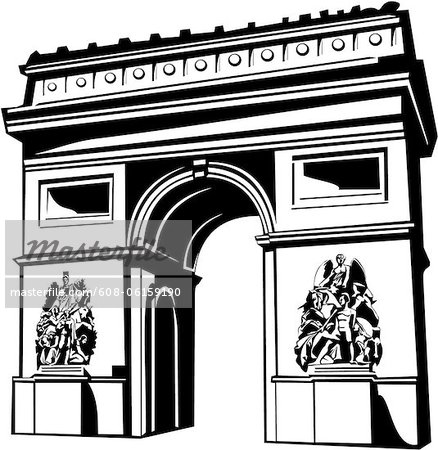 Arch de triomphe clipart png black and white download arc de triomphe clip art arc | Clipart Panda - Free Clipart Images png black and white download