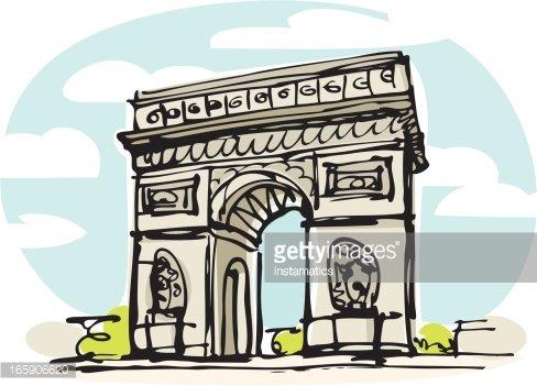Arch de triomphe clipart jpg freeuse download Arc DE Triomphe, Paris premium clipart - ClipartLogo.com jpg freeuse download