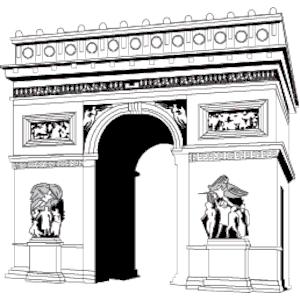 Arch de triomphe clipart clip art royalty free stock Arc de Triomphe clipart, cliparts of Arc de Triomphe free download ... clip art royalty free stock