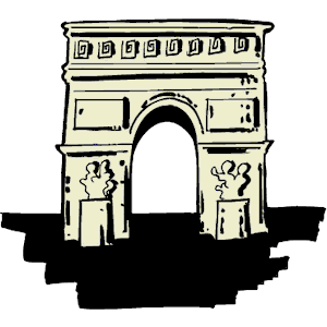 Arch de triomphe clipart transparent stock Arc de Triomphe clipart, cliparts of Arc de Triomphe free download ... transparent stock