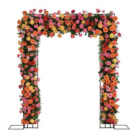 Arch of flowers orange clipart clipart freeuse download Wedding Flower Arches - DIY Tutorials for Outdoor Ceremony Decorations clipart freeuse download