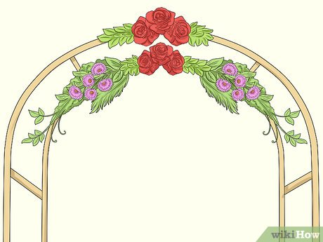 Arch of flowers orange clipart clipart download How to Decorate a Wedding Arch (with Pictures) - wikiHow clipart download