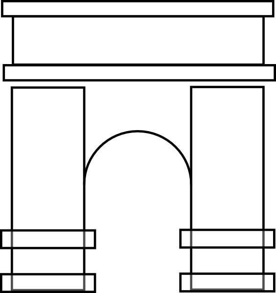 Arch pictures clipart picture black and white library Arch clip art Free vector in Open office drawing svg ( .svg ) vector ... picture black and white library