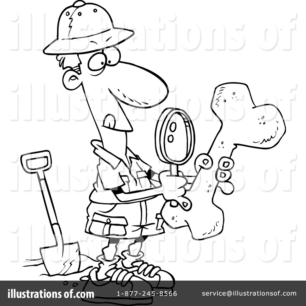 Archaeologist clipart black and white free coloring page jpg black and white download Archaeology Clipart #439565 - Illustration by toonaday jpg black and white download