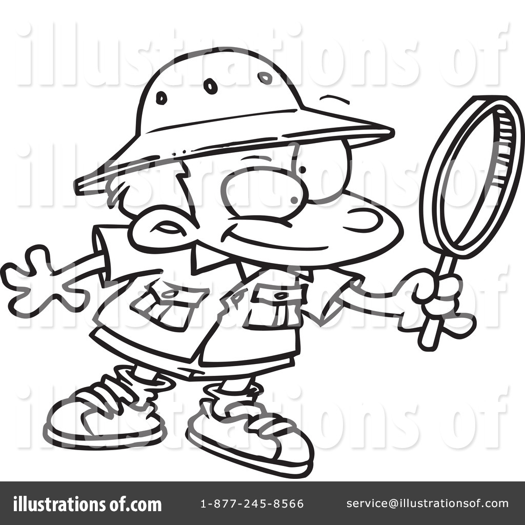 Archaeologist clipart black and white free coloring page graphic Archaeology Clipart #434205 - Illustration by toonaday graphic