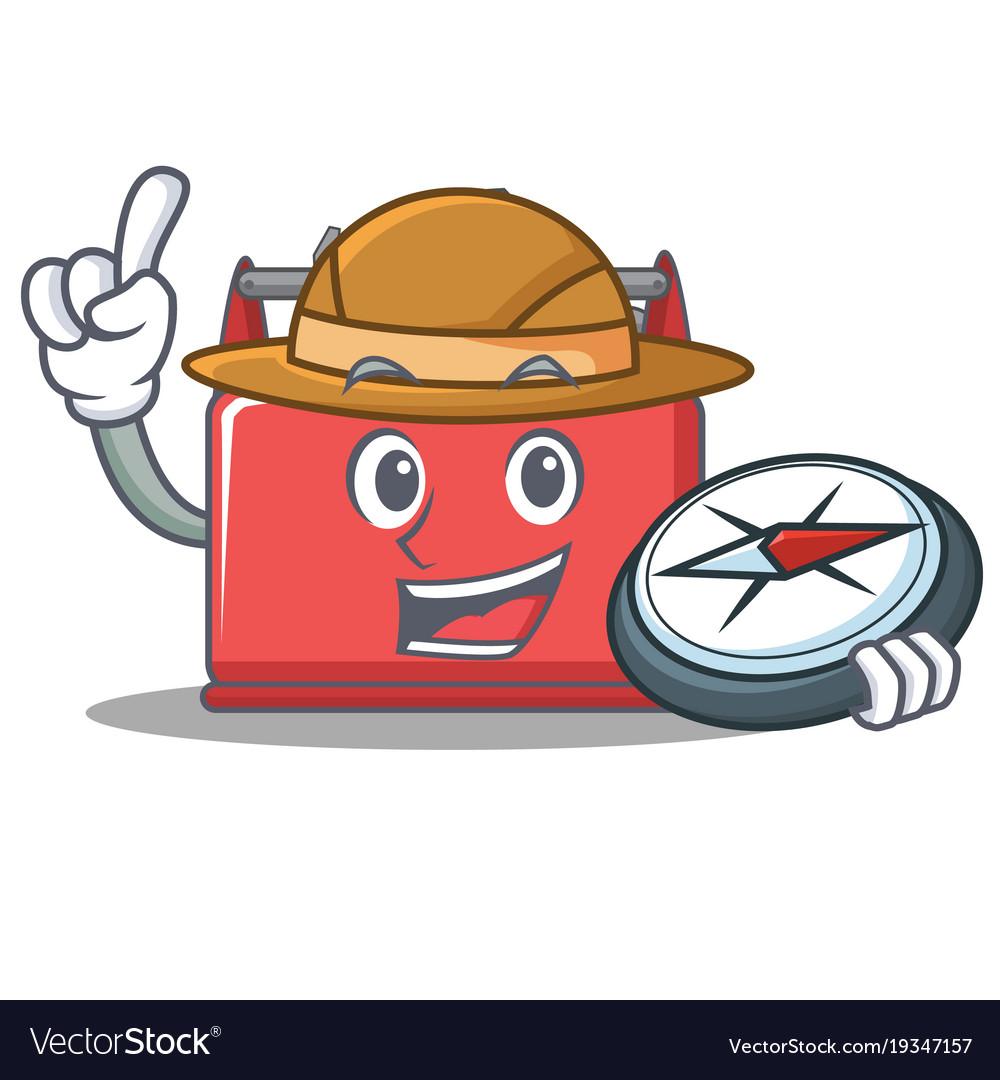 Archaeology toolbox clipart jpg royalty free library Explorer tool box character cartoon jpg royalty free library