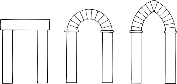 Arched door clipart banner library Arch Types clip art Free vector in Open office drawing svg ( .svg ... banner library